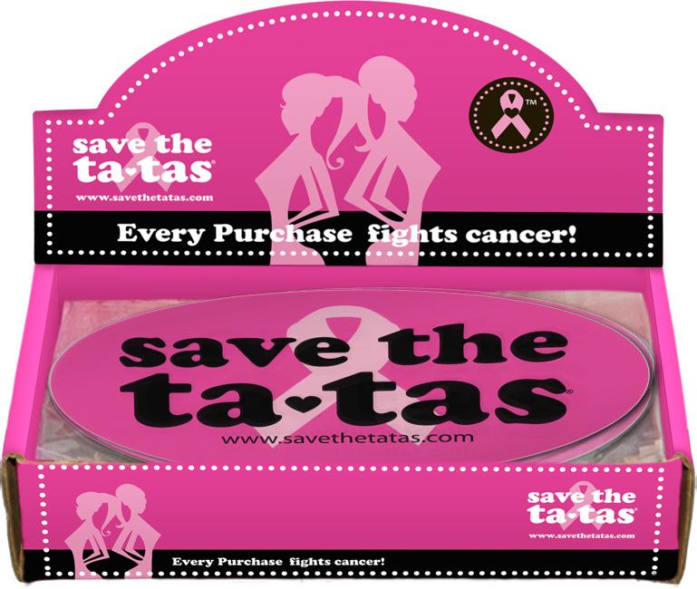 Save the Ta-Tas Bumper Magnet - Fuchsia - 48 pack