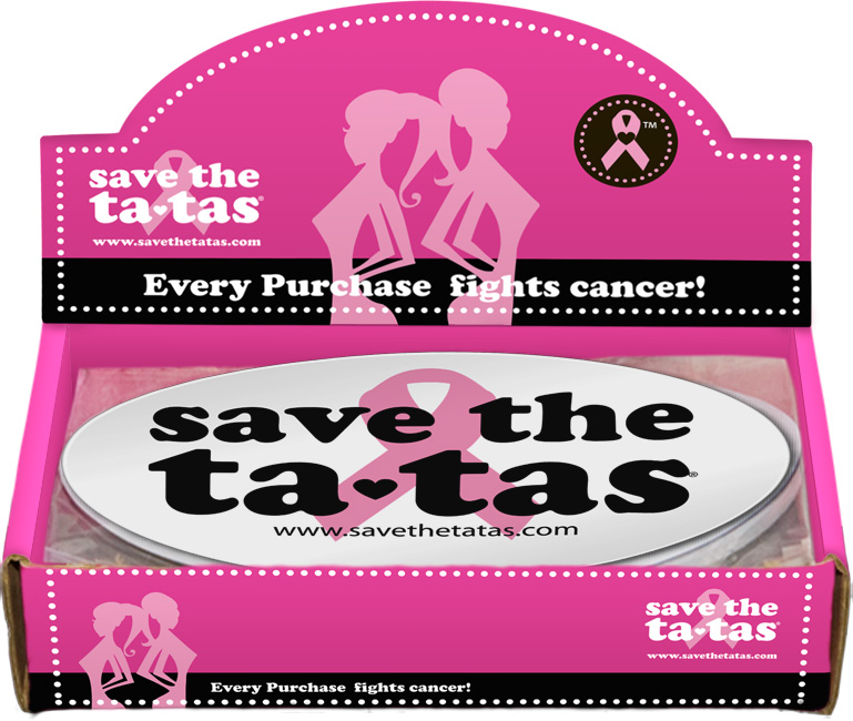 Save the ta-tas Bumper Magnet - White - 48 pack