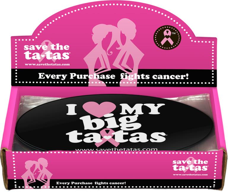 I Love My Big ta-tas Bumper Magnet - Black - 48 pack