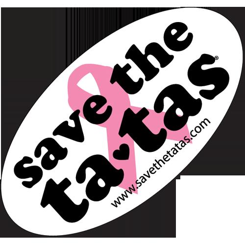 "GIANT Save the Ta-Tas Sticker - 24"" x 14"""
