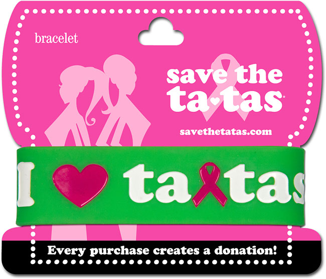 I Love Ta-Tas Bracelet - Green