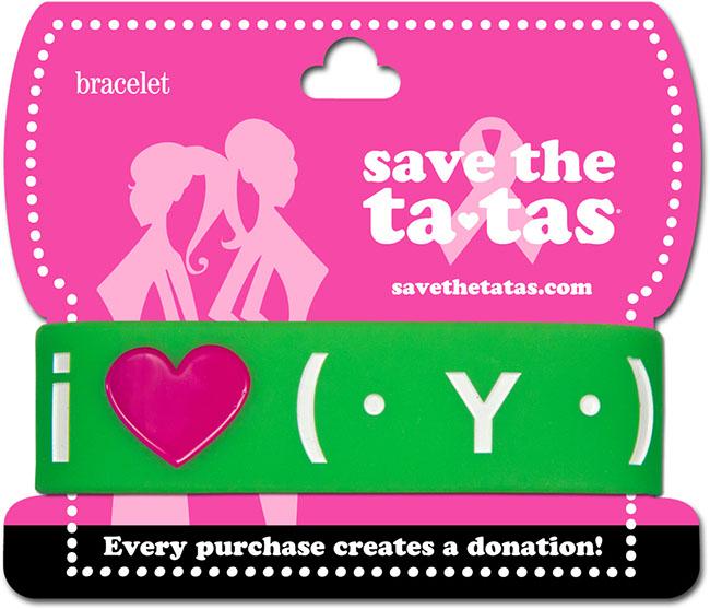 i love ta-tas (txt) Bracelet - Green