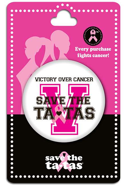 Victory Over Cancer Button - White