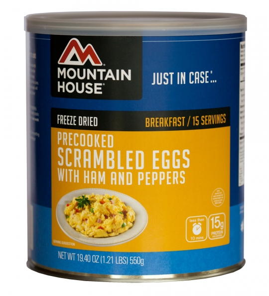 Scrambled Eggs with Ham & Peppers