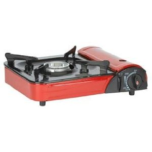 Stansport Portable Outdoor Butane Stove With Case Red Ultra-Quiet Operation E...