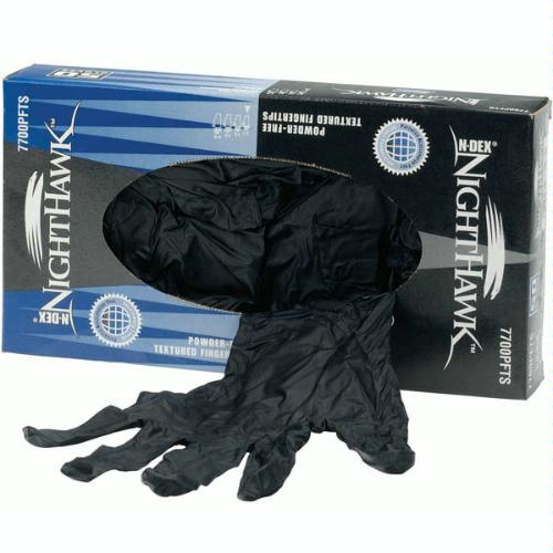 Best Nighthawk 7700PFT Black Nitrile glove bx/50 gloves Large [Misc.]