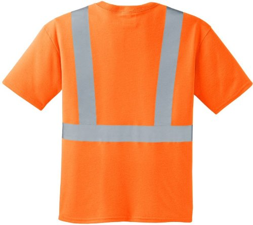 Joe's USA Safety Shirts - Big & Tall Adult 4X-Large ANSI Class 2 Orange Safet...