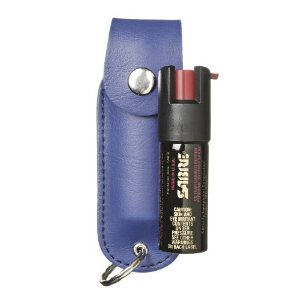 Sabre Pepper Spray with Blue Case And Key Ring (1/2-Ounce)