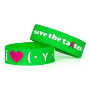 save the ta-tas 'I Love ta-tas (txt)' Green Bracelet [Misc.]