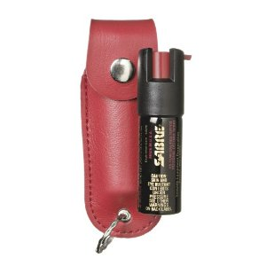 Sabre Pepper Spray with Red Case And Key Ring (1/2-Ounce)