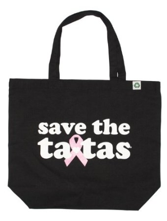 save the ta-tas Recycled Tote - Black