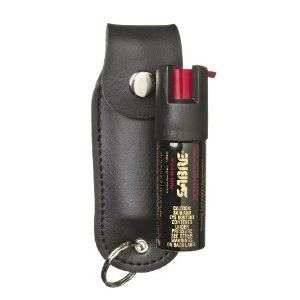 Sabre Pepper Spray with Black Case And Key Ring (1/2-Ounce)
