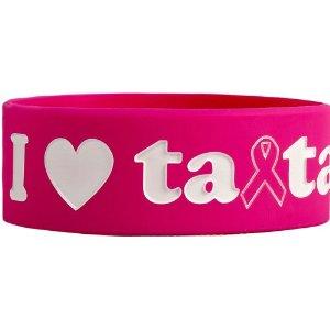 save the ta-tas 'I Love ta-tas' Fuchsia Bracelet [Misc.]