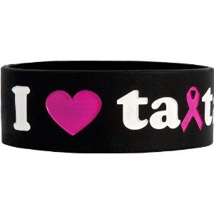 save the ta-tas 'I Love ta-tas' Black Bracelet [Misc.]