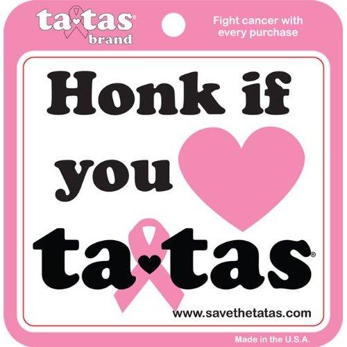 Honk If You Love ta-tas - Bumper Sticker - White [Misc.]