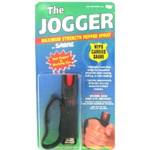 Sabre Pepper Spray 10122 Red Jogger .79 oz. ORMD Red Pepper Defense Spray and Marking Dye