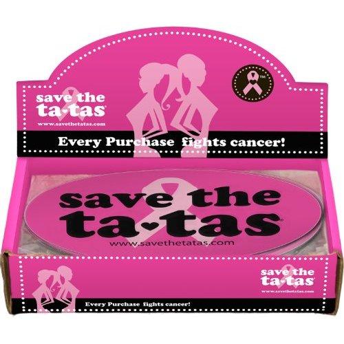 Save the ta-tas Bumper Magnet - Fuchsia - 48 pack [Misc.]