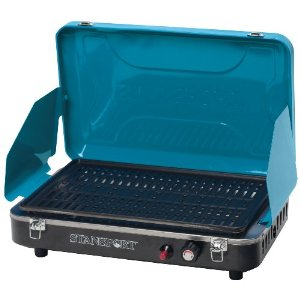 Stansport Deluxe Propane Grill Stove, Carribean Blue [Sports]