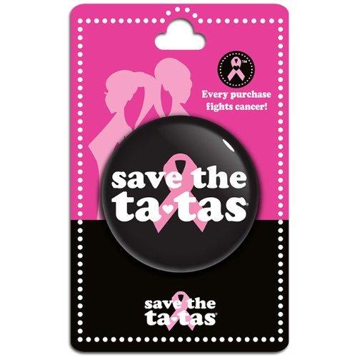 save the ta-tas Button - Black [Misc.]