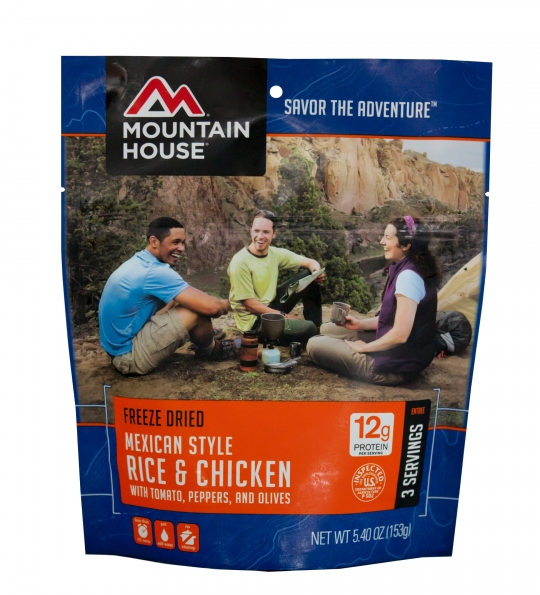 Mexican Style Rice & Chicken - Case (6 Pouches)