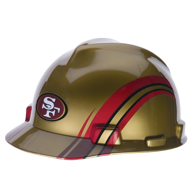 MSA Safety 10098090 NFL San Francisco 49ers V-Gard Hard Hat