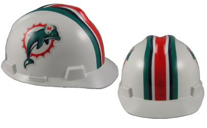 Miami Dolphins - MSA - NFL Team Logo Hard Hat