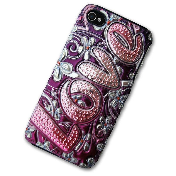iPhone 4/4S Case with 3D Love