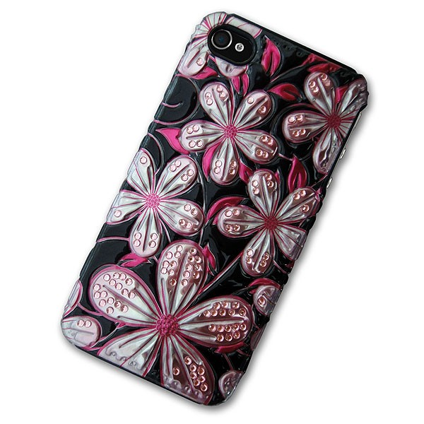iPhone 4/4S Case with 3D Love Blossoms
