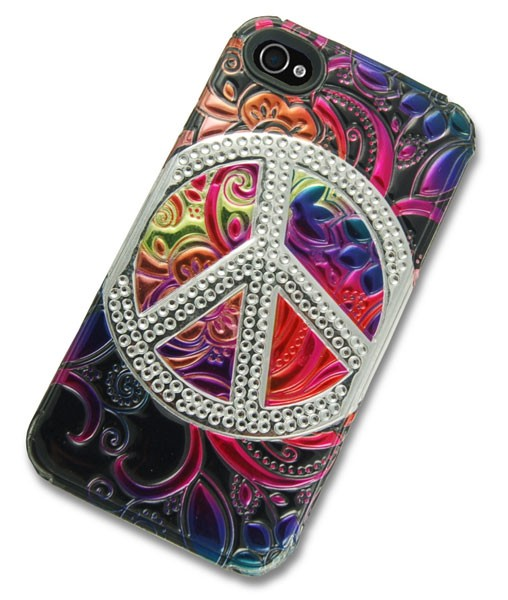 iPhone 4 Case with 3D Peace Sign