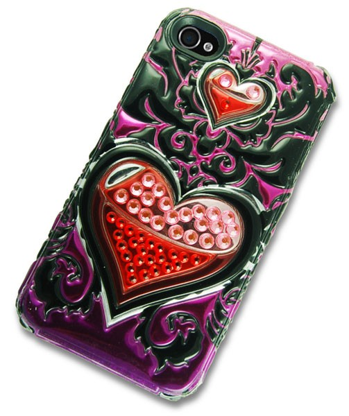 iPhone 4 Case with 3D Hearts Desire