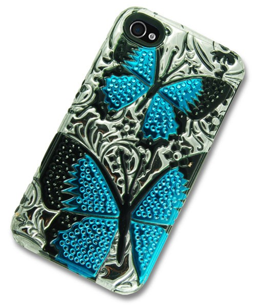 iPhone 4 Case with 3D Butterflies Kisses