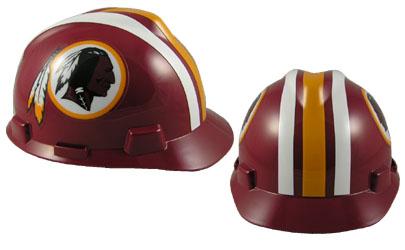 washington redskins msa nfl team logo hard hat nfl safety helmets nfl