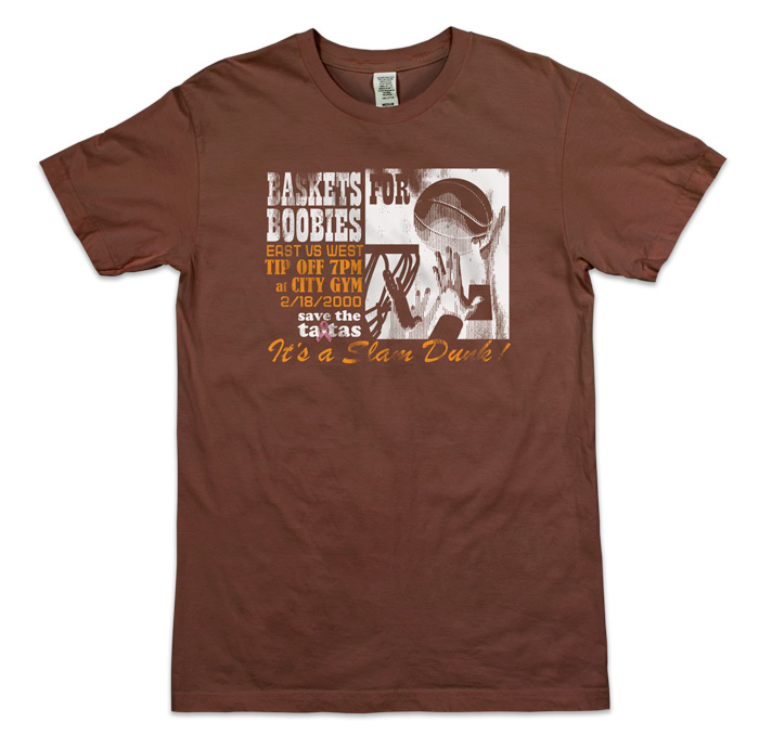 Baskets For Boobies Men's Tee - Brown