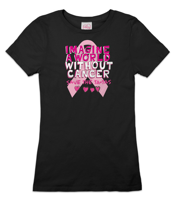 Imagine a World Without Cancer Tee - Black