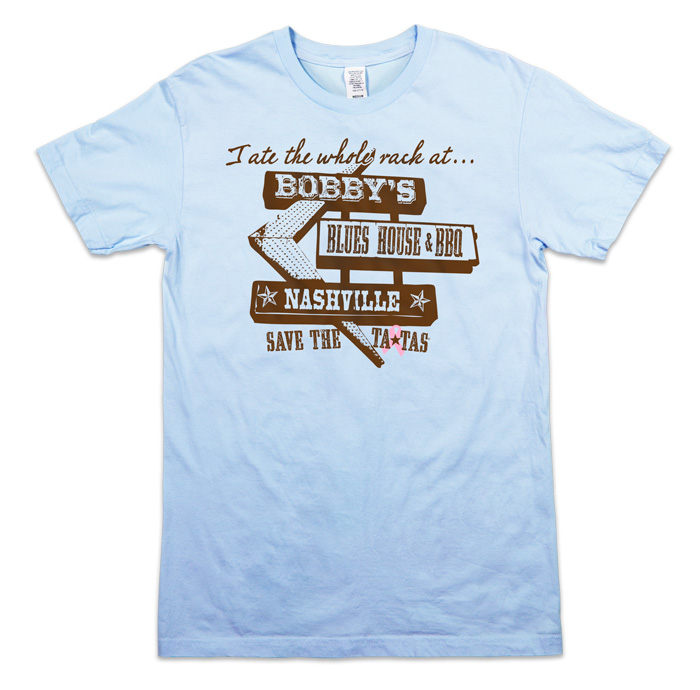 Ate the Rack Men's Tee - Light Blue