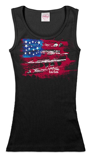 Save the ta-tas Flag - Tank - Black