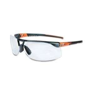 Harley-Davidson HD1100 Safety Glasses with Black/Orange Frame and Gold Mirror...
