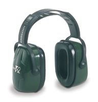 Howard Leight Thunder T2 Dark Green Plastic Headband Noise Blocking Earmuffs