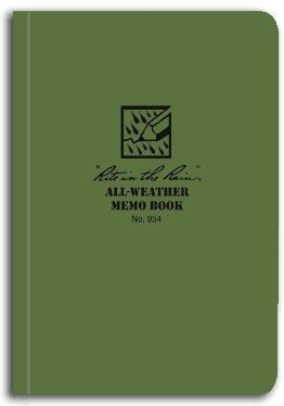 Rite In The Rain Memo Book - Green - 5 X 3.5 #954 [Office Product]