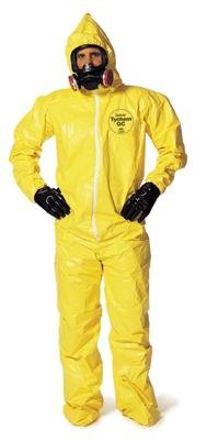 Dupont Large Yellow Tychem Qc Chemical Protection Coveralls [Misc.]