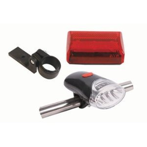 2 Pc Bicycle Safety Light Set for Front and Back [Tools & Home Improvement]