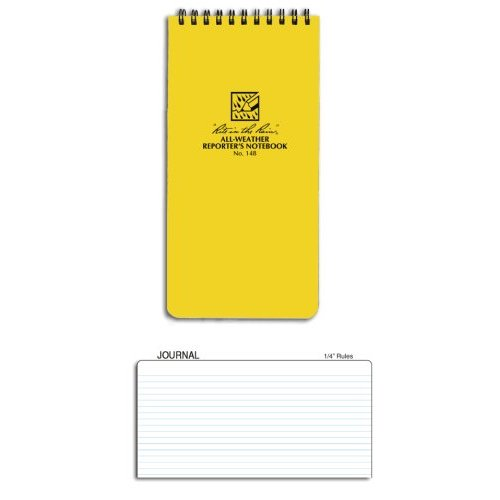 Rite In The Rain 4X8 Notebook - Yellow - Reporters #148 [Misc.]