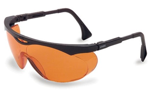 Uvex S1933X Skyper Safety Eyewear, Black Frame, SCT-Orange UV Extreme Anti-Fo...