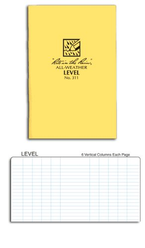 Rite in the Rain Stapled Notebooks Level Page Pattern #311 (1 Dozen)