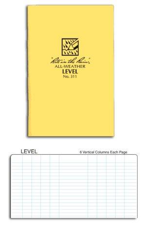 Rite in the Rain Stapled Notebooks Level Page Pattern #311 (1 Dozen)
