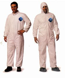 DuPont TY120S Disposable Tyvek White Coverall Suit 1412, Size XLarge, Sold by...
