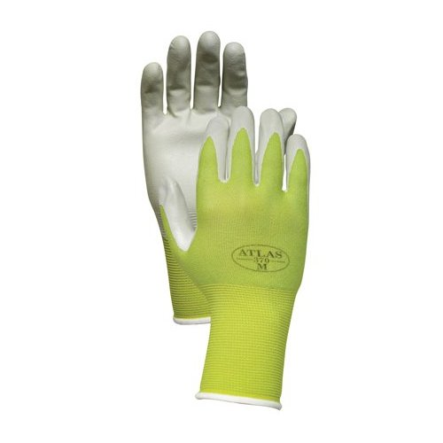 Atlas NT370 Nitrile Garden and Work Gloves, Green Apple, Medium [Misc.]