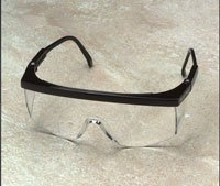 Safety Glasses, Clear Anti Fog Lens, Black Plastic Frame, 15237, Lot 12 [Misc.]