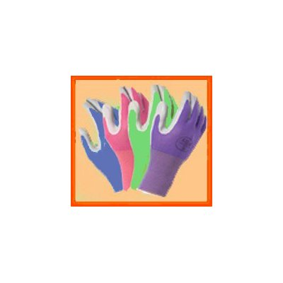 4 Pack Atlas Glove NT370 Atlas Nitrile Garden Gloves - Large (Assorted Colors)