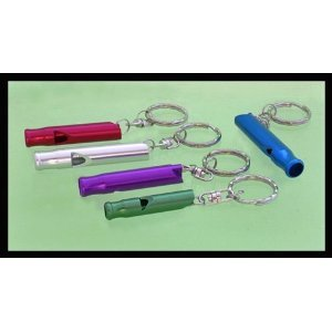 6 pcs. Aluminum Whistles, callt the kids or dogs.